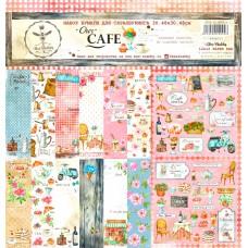 Набор бумаги для скрапбукинга Our CAFE, 8 двусторонних листов + лист бонус (оборот обложки)., плотностью 190 г/м. Размер 30.48х30.48 см. Bee Shabby.