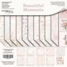 Набор двусторонней бумаги 20х20см Beautiful Moments 11шт от Scrapmir