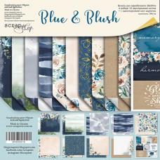 Набор двусторонней бумаги 20х20см Blue & Blush  от Scrapmir