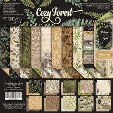 Набор двусторонней скрапбумаги  Cozy Forest   10шт, 30х30см от Scrapmir