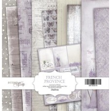 Набор односторонней скрапбумаги French Provence 10шт, 20х20см от Scrapmir
