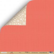 Бумага для скрапбукинга двусторонняя Плед из коллекции Hello Christmas 30х30см от Scrapmir