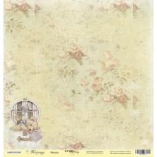 Бумага для скрапбукинга односторонняя Мишка из коллекции Корица 30х30см от Scrapmir