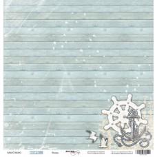 Бумага для скрапбукинга односторонняя Якорь из коллекции Море 30х30см от Scrapmir