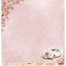 Бумага для скрапбукинга односторонняя Кортеж из коллекции Наша Свадьба 30х30см от Scrapmir