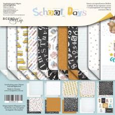 Набор двусторонней бумаги 20х20см School Days 11шт от Scrapmir