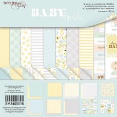 Набор двусторонней скрапбумаги  Smile Baby  10шт, 20х20см от Scrapmir
