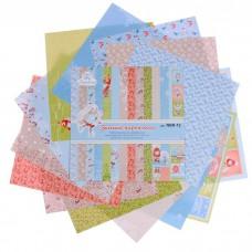 "Набор бумаги для скрапбукинга ""Зимний переполох"" 14 листов 180г/м2, 30,5х30,5 см"