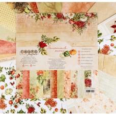 """Набор бумаги для скрапбукинга """"Золотая осень"""" 16 шт., 30.5х30.5 см, 190 гр/м2."""