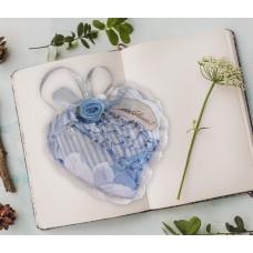 """Текстильное украшение для интерьера Сердце """"С любовью"""""""