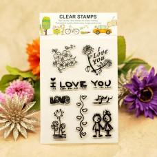 """Набор штампов """"I love you"""" (набор 10 шт.)"""