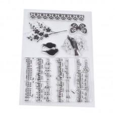 """Набор штампов """"Музыкальные ноты"""" (набор 6 шт.)"""
