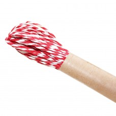 Шнур витой из бумаги для декорирования 2 цвета (белый, красный)