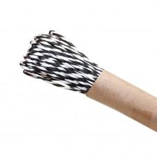 Шнур витой из бумаги для декорирования 2 цвета (белый, черный)