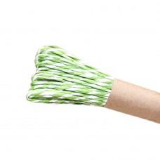 Шнур витой из бумаги для декорирования 2 цвета (белый, зеленый)