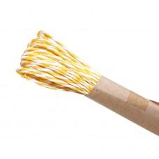 Шнур витой из бумаги для декорирования 2 цвета (белый, желтый)