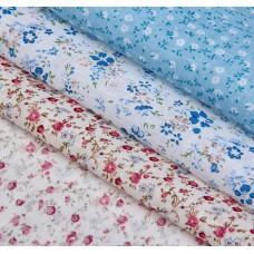 """Набор ткани для пэчворка """"Полевые цветы"""" (3 шт., размер 30*40 см)"""