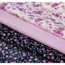 """Набор ткани для пэчворка """"Контрастный"""" (3 шт., размер 30*40 см)"""