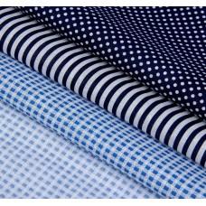 """Набор ткани для пэчворка """"Морской"""" (3 шт., размер 30*40 см)"""