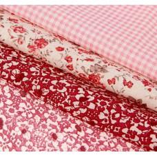 """Набор ткани для пэчворка """"Нежность розового"""" (3 шт., размер 30*40 см)"""