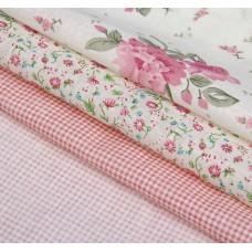 """Набор ткани для пэчворка """"Цветочная симфония"""" (3 шт., размер 30*40 см)"""