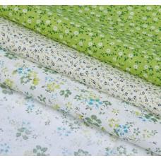 """Набор ткани для пэчворка """"Нежная зелень"""" (3 шт., размер 30*40 см)"""