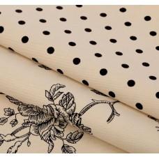 """Набор ткани для пэчворка """"Кофейная роза"""" (2 шт., размер 50*50 см)"""