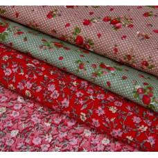 """Набор ткани для пэчворка """"Сладость лета"""" (3 шт., размер 30*40 см)"""