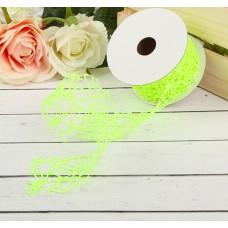 "Лента упаковочная ""Ажур"", цвет ярко-салатовый, Размер 450 см × 5 см"