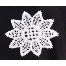 Кружевная салфетка гипюровая D=3,6 см, Цвет белый.