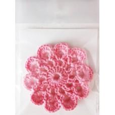 Кружевная салфетка D=7см, Цвет розовый