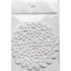 Кружевная салфетка D=8,5см, Цвет белый