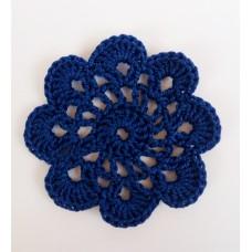 Кружевная салфетка D=5,5 см, Цвет синий.