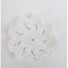 Кружевная салфетка D=4,5 см, Цвет белый.