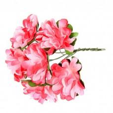 """Декор для творчества """"Пестрые цветы"""" 9см (набор 6 цветов)"""