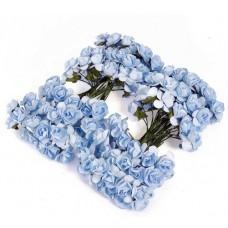 """Декор для творчества """"Голубые Розы"""" (набор 12 цветков)"""