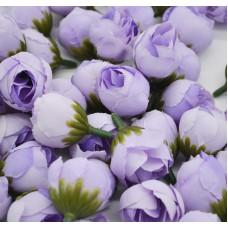 Цветок Ранункулюс шелк, цвет фиолетовый 2,5 см, 1 шт.
