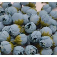 Цветок Ранункулюс шелк, цвет морской волны 2,5 см, 1 шт.