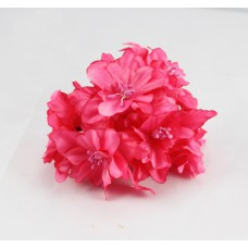 """Декор для скрапбукинга цветок четырехслойный """"Гардения"""", 5 см, цвет малиновый, 1 шт."""