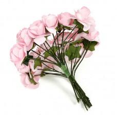 """Декор для творчества """"Розовые Розы"""" (набор 12 цветков)"""