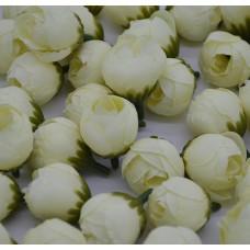 Цветок Ранункулюс шелковый, цвет кремовый 2,5 см, 1 шт.