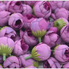Цветок Ранункулюс шелк, цвет сиреневый 2,5 см, 1 шт.