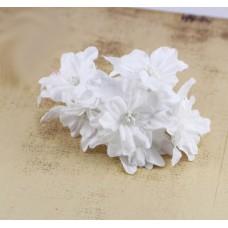 """Декор для скрапбукинга цветок четырехслойный """"Гардения"""", 5 см, цвет белый, 1 шт."""