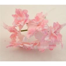 """Декор для скрапбукинга цветок четырехслойный """"Гардения"""", 5 см, цвет розовый, 1 шт."""