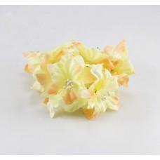 """Декор для скрапбукинга цветок четырехслойный """"Гардения"""", 5 см, цвет желтый, 1 шт."""