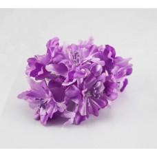 """Декор для скрапбукинга цветок четырехслойный """"Гардения"""", 5 см, цвет фиолетовый, 1 шт."""