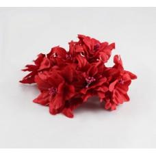 """Декор для скрапбукинга цветок четырехслойный """"Гардения"""", 5 см, цвет красный, 1 шт."""