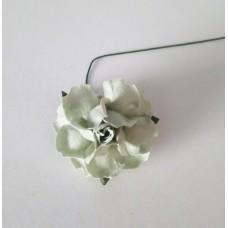 Цветок Розы с бархатными листьями, цвет светло-зеленый 4 см, 1 шт.