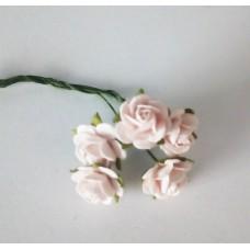 Цветы Розочки розовые 1 см, 5 шт.