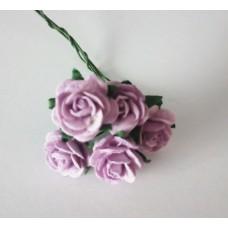 Цветы Розочки фиолетовый 1,5 см, 5 шт.